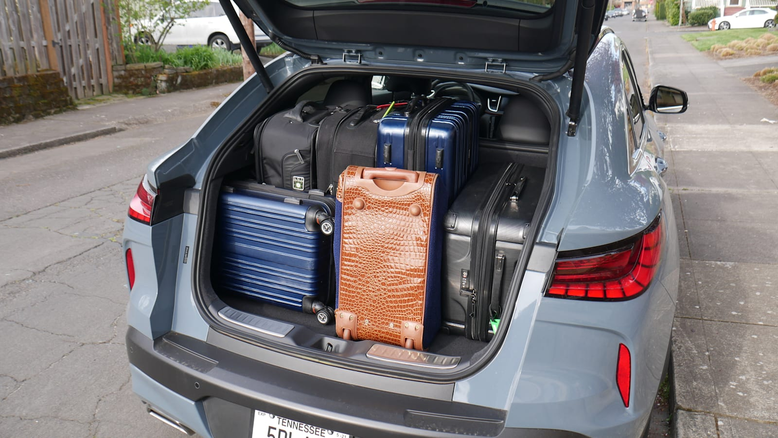 2021 Infiniti QX55 all bags weird tetris