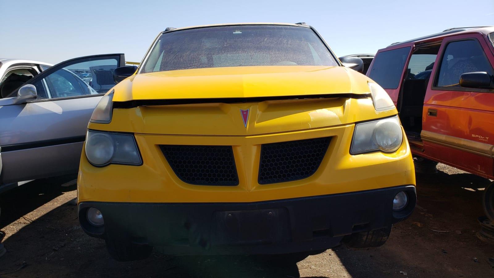 24 2002 Pontiac Aztek in Colorado junkyard photo by Murilee Martin