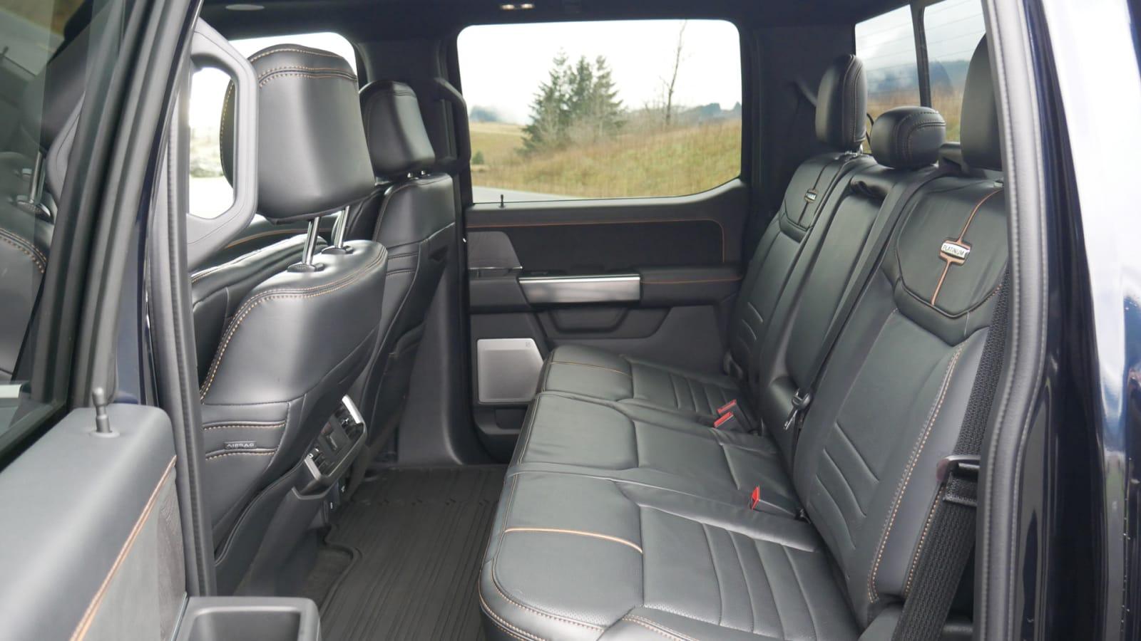 2021 Ford F 150 Super Crew Platinum PHEV back seat1