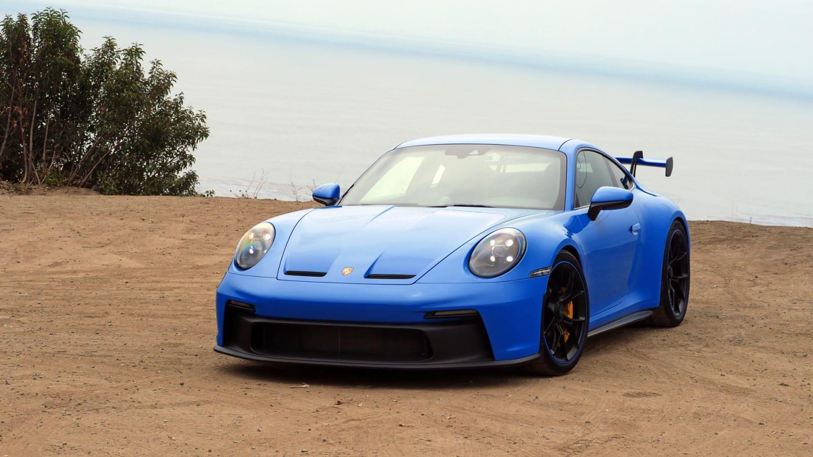 2022 Porsche 911 GT3 with the ocean