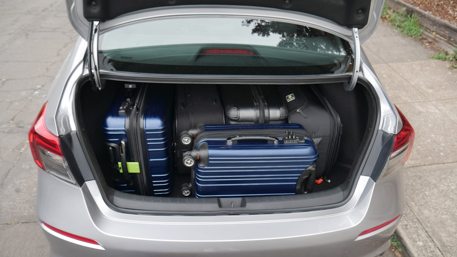 2022 Honda Civic Sport trunk with bags