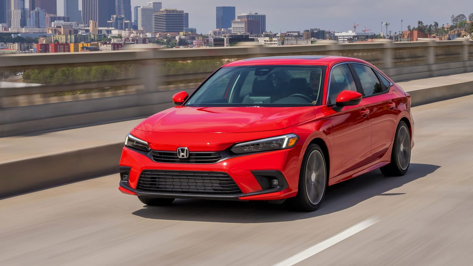 2022 Honda Civic Touring in Red