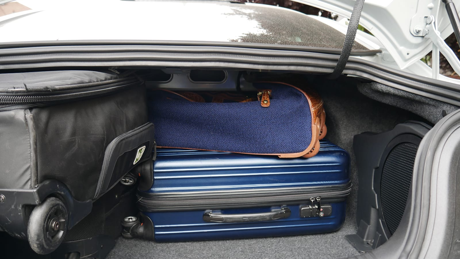 2021 Ford Mustang Luggage Test shmushed fancy bag