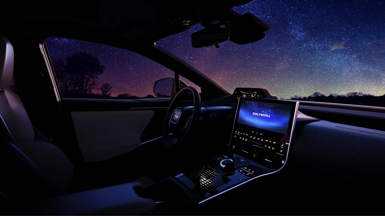 2023 Subaru Solterra EV mit aussagekräftigen Fotos von innen und außen angeteasert€