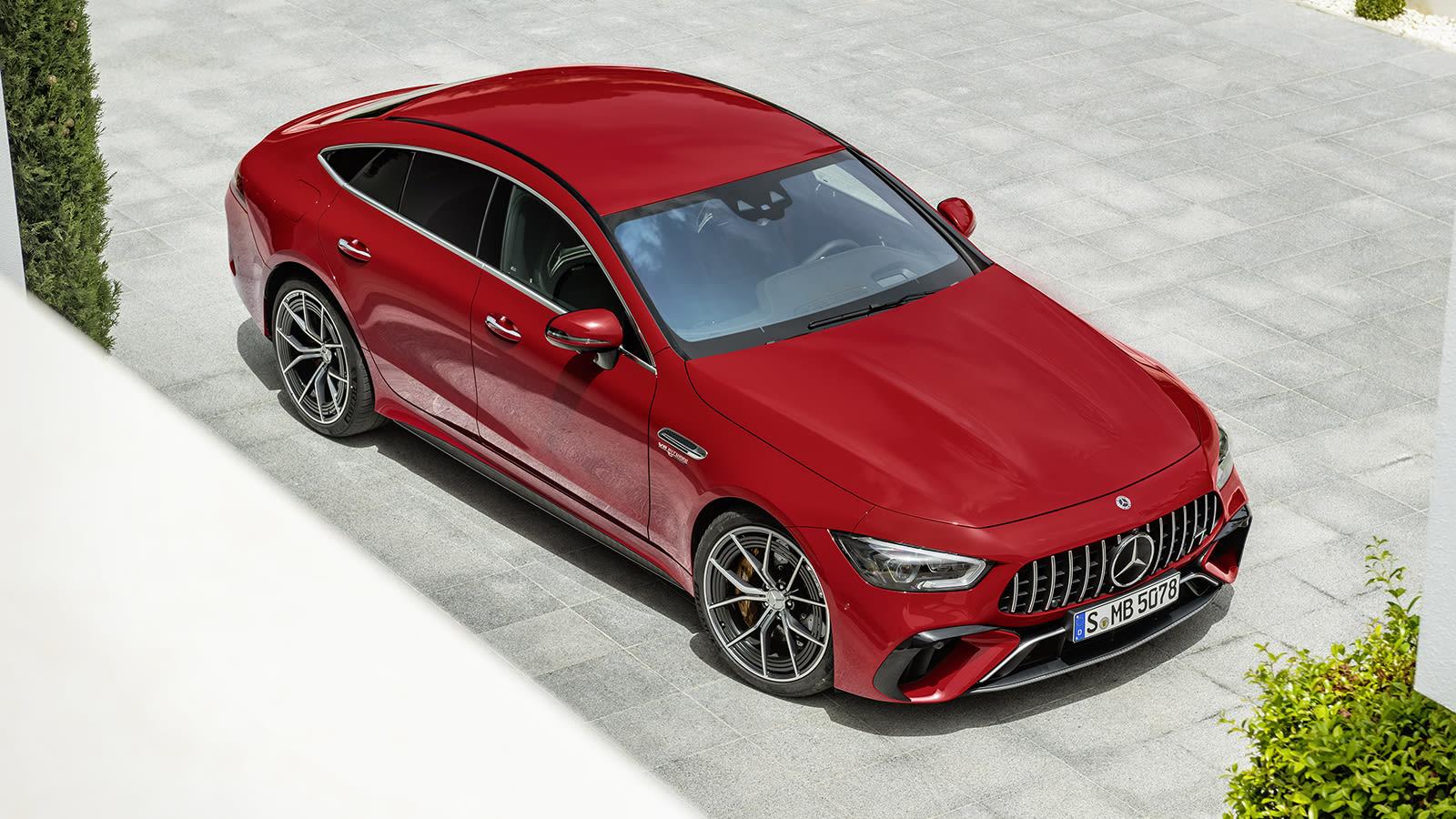 2022 Mercedes-AMG GT 63 S E PERFORMANCE (4MATIC+) (Kraftstoffverbrauch gewichtet, kombiniert (WLTP): 8,6 l/100 km; CO2-Emissionen gewichtet, kombiniert: 196 g/km; Stromverbrauch gewichtet: 10,3 kWh/100 km)Mercedes-AMG GT 63 S E Performance