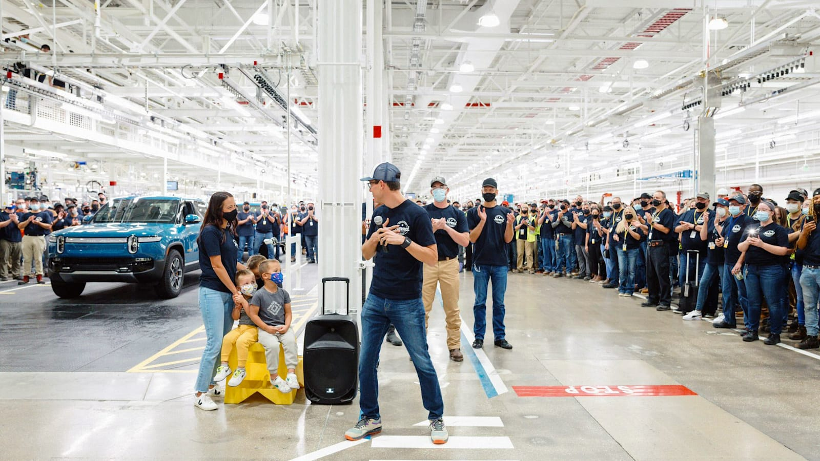 First R1T customer truck rolls off the assembly line