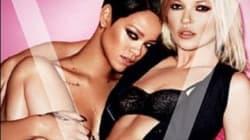 Effeuillage de Rihanna et Kate Moss en couverture du magazine