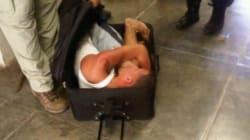 Fuga da film: si nasconde in una valigia per evadere dal carcere, ma la polizia lo