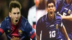 Quand Messi marque en 2013 le même but que Maradona en