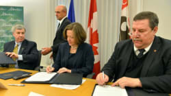 Redford Signs $85 Million Metis Funding