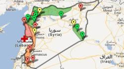 La carte du point sur la situation après deux ans de conflit
