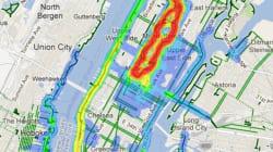 LOOK: Heat Maps Reveal Most Popular Running Spots In