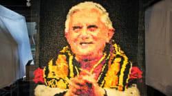 Un portrait de Benoît XVI ... fait avec 17.000