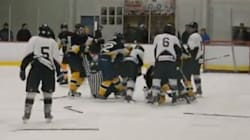 WATCH: MASSIVE Hockey Fight In