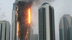 LOOK: Fire Engulfs Chechnya's Tallest