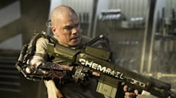 Matt Damon rasé dans un exosquelette