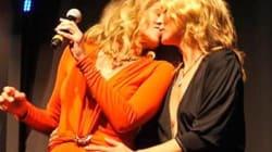 Le baiser de Sharon Stone et Kate