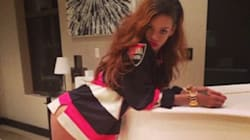 LOOK: Rihanna Poses In Nothing But Senators Jersey And