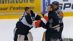 WATCH: Four Goalies Fight In This Hockey