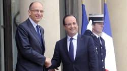 Enrico Letta incontra Hollande