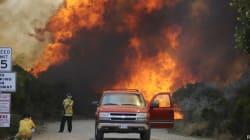 L'incendie qui ravage la Californie près de Los Angeles a triplé de