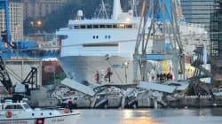 Spectaculaire accident au port de