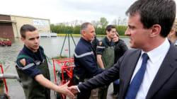 Valls classe les zones inondées de l'Aube en état de catastrophe