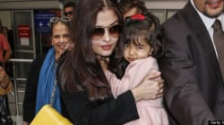 Aishwarya Rai Hangs On To Daughter At