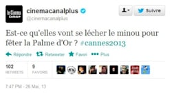 Palme d'Or: l'humour homophobe de Canal+ qui passe