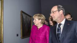 Hollande et Merkel ont visité le Louvre sur fond d'expo