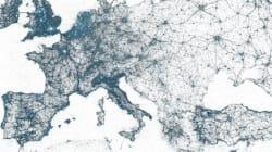 Il mondo visto da Twitter: la mappa planetaria dei cinguetti