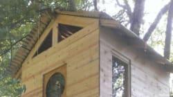 Il se fabrique une maison dans un arbre pour moins de
