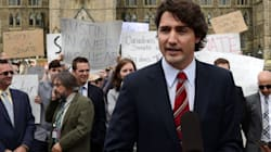 Protesters Crash Trudeau