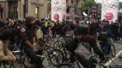 Des anticapitalistes dans la rue contre le Grand