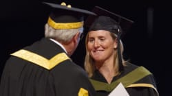 Hayley Wickenheiser Graduates, 17 Years