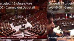 Prima i parlamentari e poi il Governo quando l'Aula rimane