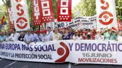 Los sindicatos salen a la calle contra la política de austeridad de la