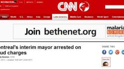 L'arrestation du maire de Montréal fait le tour du