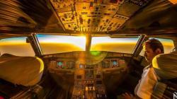 Des photos impressionnantes prises depuis le cockpit d'un avion