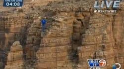 Il traverse le Grand Canyon sur un