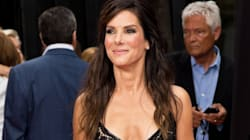 WHOA! Sandra Bullock's A Knockout In Black Leather