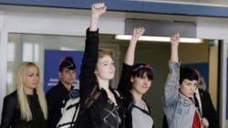 Les trois Femen libérées en Tunisie sont arrivées en