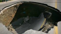 LOOK: Edmonton Sinkholes Are Pretty