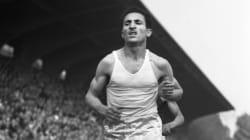 Alain Mimoun, légende de l'athlétisme français, est