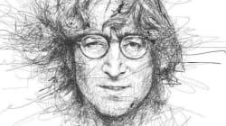 I disegni a matita delle star del cinema e della musica