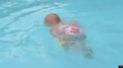 水に落ちても溺れず、一人で泳げる赤ちゃんたち(動画)