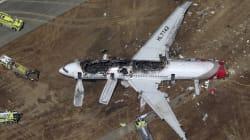 Impressionnant crash d'un Boeing 777 à San