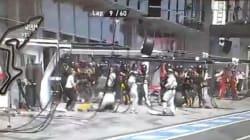 Un pneu sème la panique au Grand prix