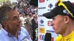 Et Gérard Holtz demanda au maillot jaune s'il se
