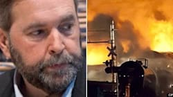 Mulcair Denies Linking Disaster To